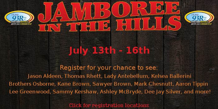 Jamboree In The Hills Giveaway, Lite Rock 93R, St Marys, WV